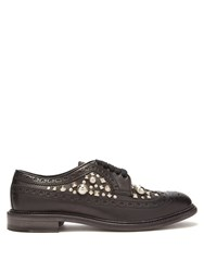 Burberry Studded Leather Derby Shoes Black
