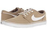 Nike Portmore Ii Solar Canvas Print Khaki White Black Men's Skate Shoes