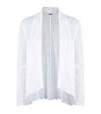 Elie Tahari Iryna Crochet Jacket Female White