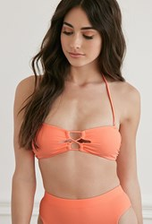 Forever 21 Strappy Keyhole Front Bandeau Bikini Top