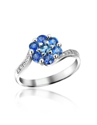 Incanto Royale Sapphire And Diamond 18K Gold Ring Silver