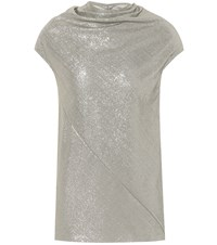 Rick Owens Sleeveless Lame Top Metallic