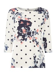 Dickins And Jones Flo Floral Printed Top Multi Coloured Multi Coloured