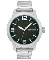 Kenneth Cole Reaction Stainless Steel Bracelet Watch 45Mm Silver