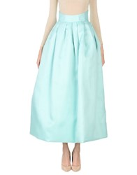 Io Couture Long Skirts Turquoise