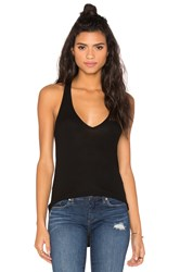 Feel The Piece Lilith Racer Back V Neck Tank Black