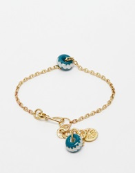Mirabelle Chain Bracelet With Bead Brass
