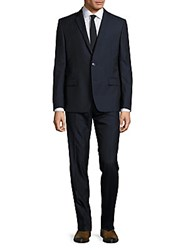Versace Wool Blend Suit Black