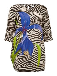 Persona Plus Size Fauna Animal Graphic Print Jersey Top Multi Coloured
