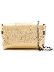 Zadig And Voltaire Nano Clutch Bag Gold