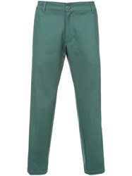 Noon Goons Cropped Length Trousers Green