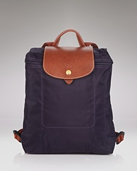 Longchamp Backpack Le Pliage Bilberry Purple