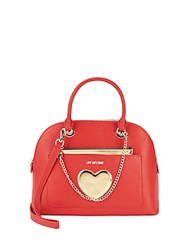 Love Moschino Top Handle Dome Bag Red