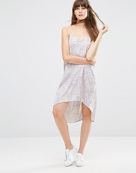 Noisy May Woven Racer Cami Dress Moonbeam White