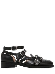 Gucci 20Mm Queercore Leather Buckle Shoes