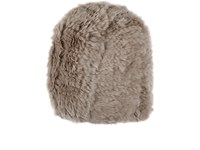 Barneys New York Women's Fur Beanie Grey