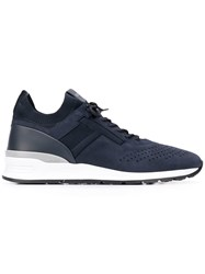 Tod's Nubuck Leather Sneakers Blue