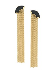 Wouters And Hendrix My Favourite Onyx Chain Earrings Metallic