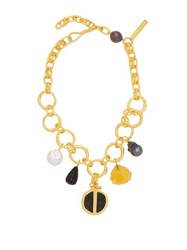 Lizzie Fortunato Byzantine Gold Plated Charm Necklace Gold