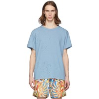 Amiri Blue Shotgun T Shirt