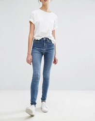 Weekday Super High Waist Body Jean Peer Blue