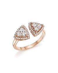 Bloomingdale's Diamond Geometric Open Cluster Ring In 14K Rose Gold .65 Ct. T.W. 100 Exclusive White Rose