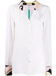 Emilio Pucci Floral Detailed Shirt White