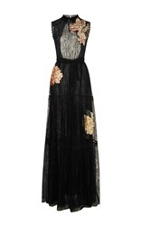 Sachin Babi And Celina Lace Gown Black