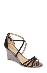 Jewel Badgley Mischka Women's Hunt Glittery Wedge Sandal