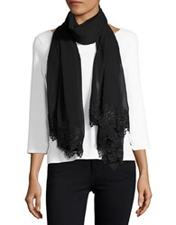 Calvin Klein Lace Trimmed Scarf Black