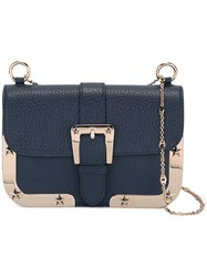 Red Valentino Chain Strap Saddle Bag Blue