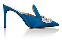 Giannico Women's Daphne Satin Mules Blue