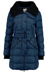 Joie Casey James Quilted Shell Down Coat Navy