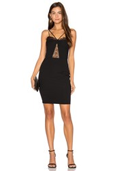 Nightcap By Carisa Rene Delicate Lace Corset Dress Black