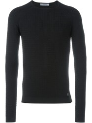 Versace Collection Crew Neck Sweater Black
