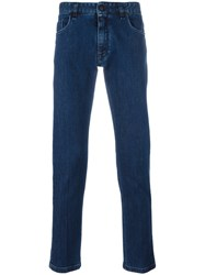 Fendi Straight Leg Jeans Blue