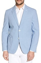 Flynt Big And Tall Slim Fit Microcheck Soft Sport Coat Blue
