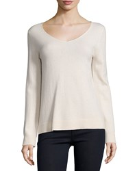 Neiman Marcus Cashmere Collection Modern Cashmere V Neck Sweater Women's