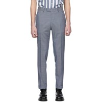 Tiger Of Sweden Blue And Grey Wool Tilman Trousers