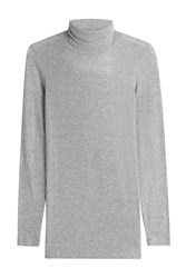 Closed Turtleneck Pullover With Cashmere Grey
