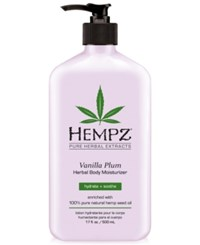 Hempz Vanilla Plum Herbal Body Moisturizer 17 Oz From Purebeauty Salon And Spa No Color