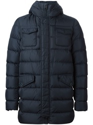 Herno Padded Button Down Jacket Blue