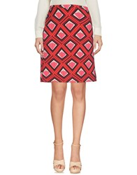 1 One Knee Length Skirts Coral