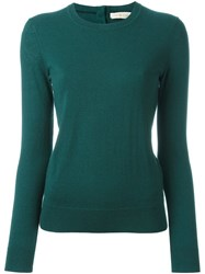 Tory Burch Crew Neck Jumper Green