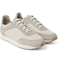 Spalwart Tempo Suede And Canvas Sneakers Off White