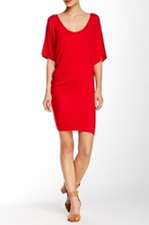 Loveappella Jersey Knit Tee Dress Red