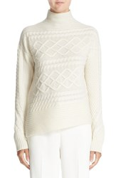 Nordstrom Caroline Issa Women's Signature And Diagonal Cable Cashmere Sweater