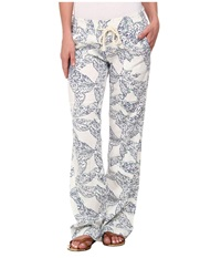 Roxy Ocean Side Print Pant Summer Getaway Women's Casual Pants Gray