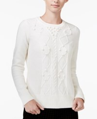 Maison Jules Textured Sweater Only At Macy's Egret