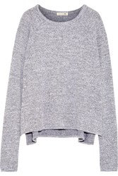 Rag And Bone Camden Melange Stretch Jersey Top Gray